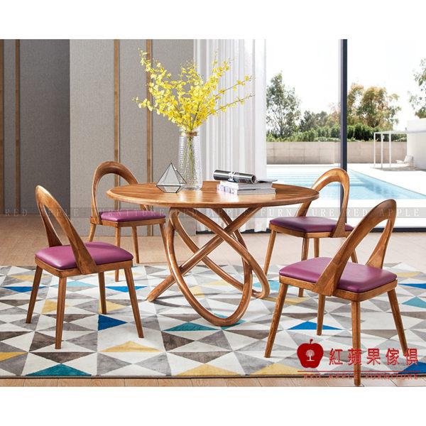 [紅蘋果傢俱]XS-T803白蠟木系列 餐桌/椅 餐台 圓桌 餐邊櫃 書桌/椅 實木 北歐 現代簡約 輕奢風