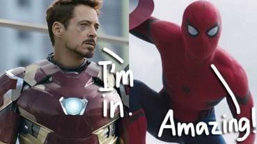 鋼鐵人確定加盟新版《蜘蛛人》電影 燃起漫威影迷的期待值!
