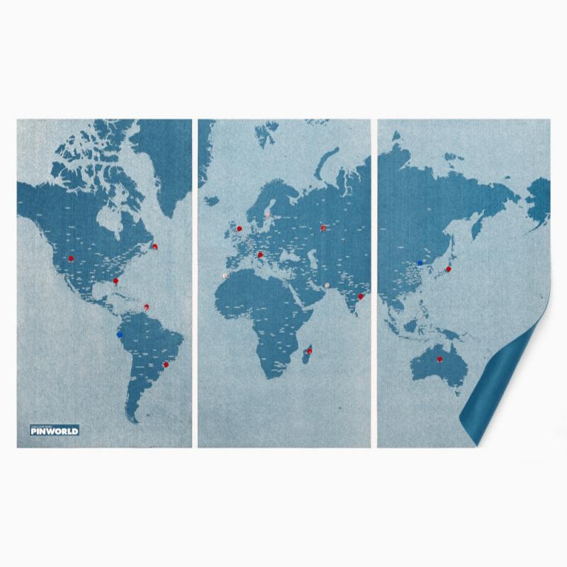 產品特色 拼世界地圖加大版 內附專屬拼針45支 可做掛飾使用 產品介紹 一張有溫度的地圖,使用毛氈材質製作而成,帶有「溫暖」感受的質料,向人們傳遞出一種親密的感覺。並將這觸覺上的特質轉換為具設計感的圖