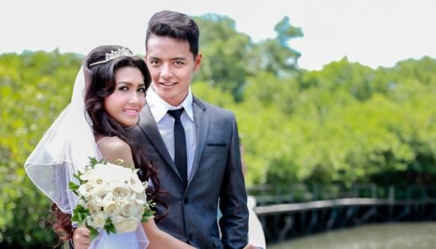 Ilustrasi pengantin baru. Shutterstock
