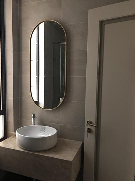 北歐風浴室鏡子衛生間鏡子衛浴鏡廁所洗手間鏡子壁掛鏡橢圓梳妝鏡