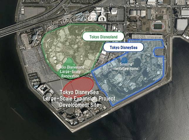 已知新園區將會坐落DisenyLand和DisenySea接壤的地方。(互聯網)