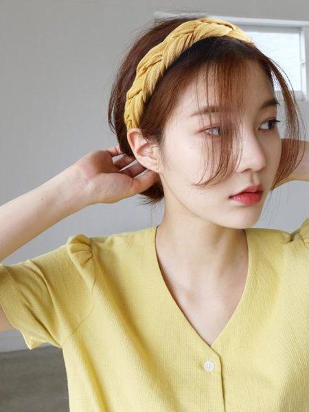 髮帶 韓國束髮綁髮帶甜美森女系網紅髮箍chic風寬邊個性歐美頭箍頭飾女 傾城小鋪