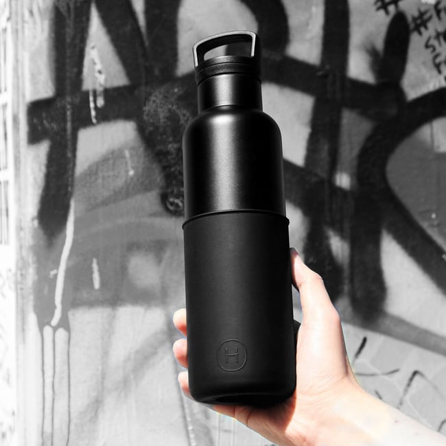 HYDY 午夜黑-黑瓶 時尚保溫水瓶 590ml