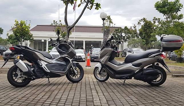 Perbandingan dimensi Honda ADV 150 dengan Yamaha NMAX