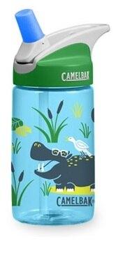 《台南悠活運動家》CAMELBAK 美國 兒童吸管運動水瓶 搖滾河馬 400ml CB1274403040