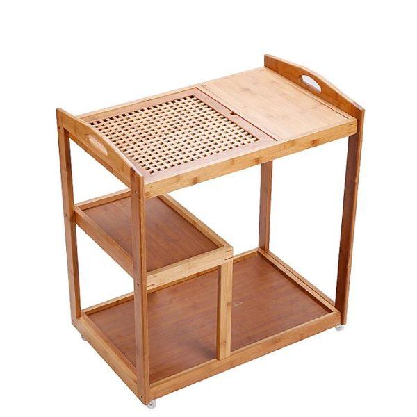 可移動茶台家用小茶車竹茶盤實木