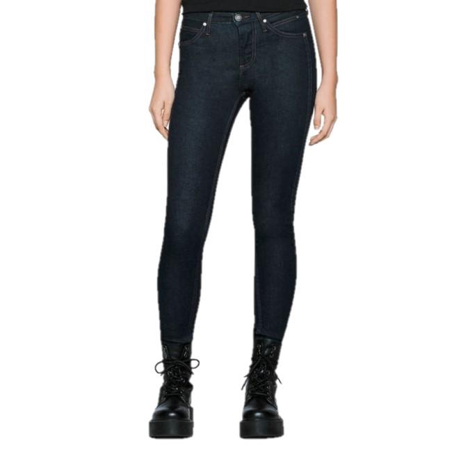 Calvin Klein 女裝雕花緊身牛仔褲 DARK RINSE