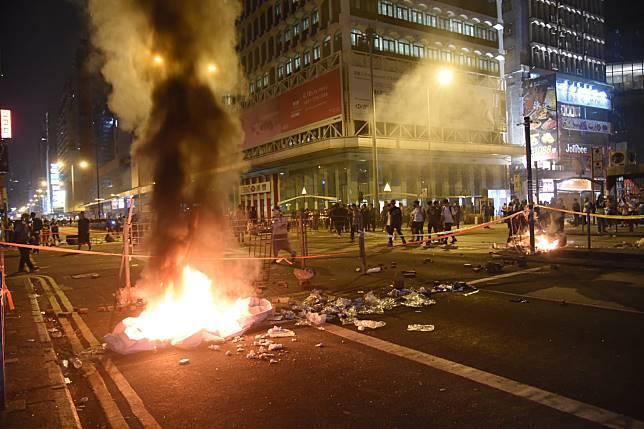 亞皆老街縱火現場。