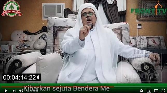 Habib Rizieq Shihab. [YouTube/Front TV]