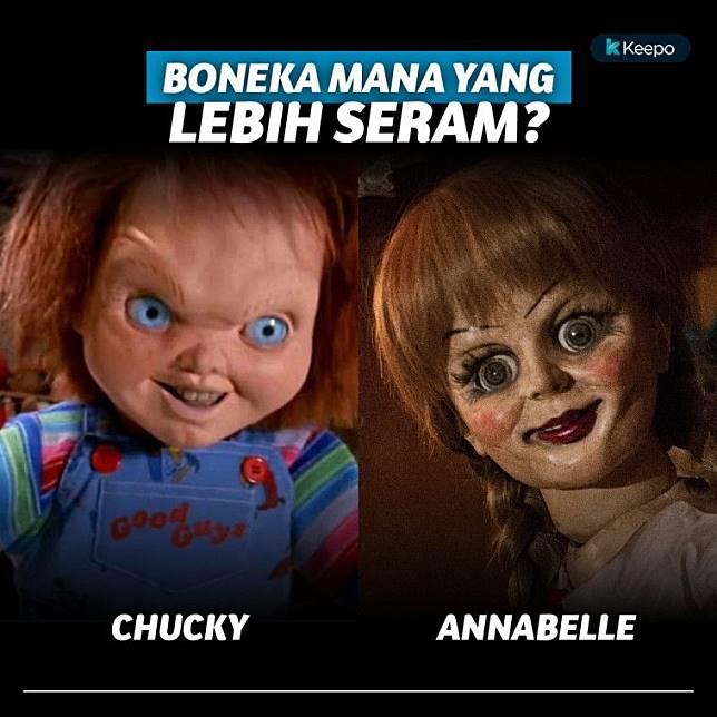 Annabelle Vs Chucky Boneka Terseram Yang Bikin Mimpi Buruk