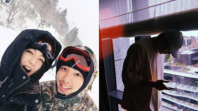 ▲柯佳嬿(左圖左)與坤達結婚2年。(圖/翻攝自臉書、柯佳嬿IG)