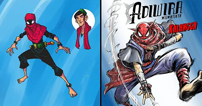 ic book artists create spectacular Indonesian versions of Spider