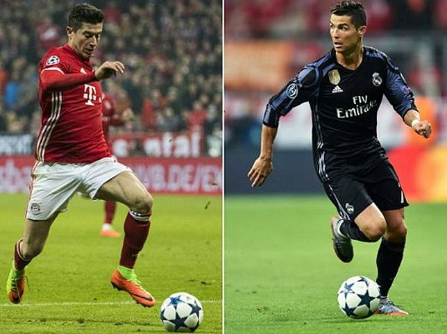 Ronaldo Pilih Lewandowski ketimbang Kane untuk Bela Madrid