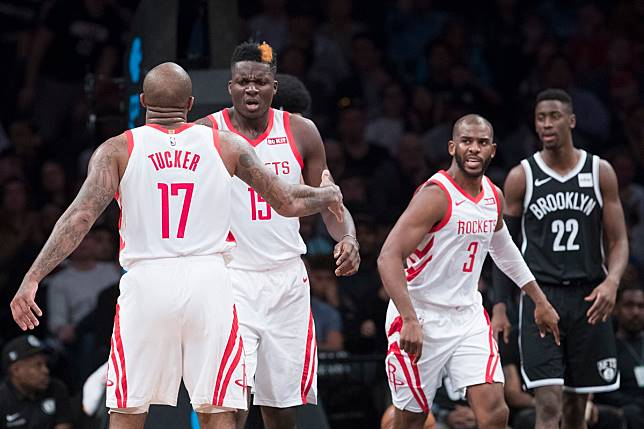 PJ Tucker, Clint Capela, Chris Paul