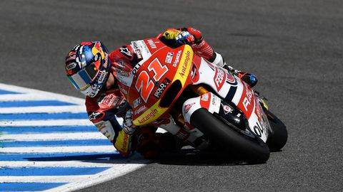 Fabio Di Giannantonio menang Moto2 Spanyol 2021. (AFP/PIERRE-PHILIPPE MARCOU)