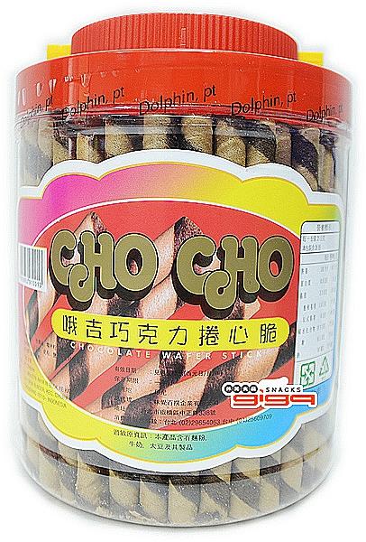 【吉嘉食品】哦吉-巧克力捲心酥(罐)