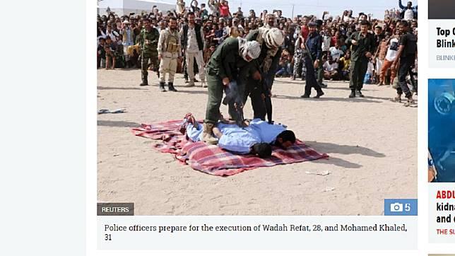 葉門兩名男子因性侵、殺害男童,上週被公開槍決。圖/翻攝自 太陽報
