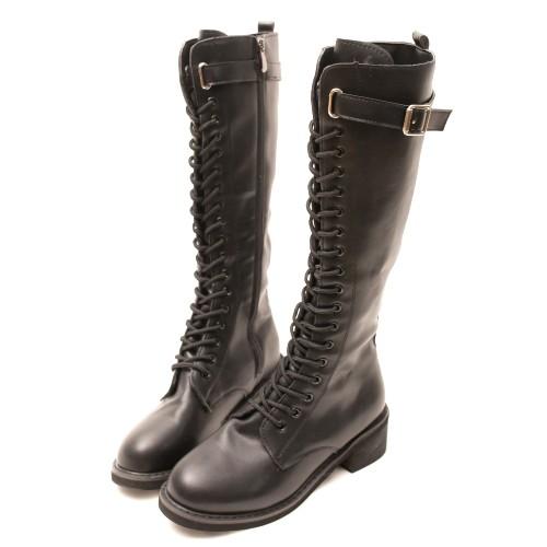 TW8626英倫風扣環繫帶側拉鍊長靴顏色:黑尺寸:36-40 【跟高】3.5公分【材質】PU【鞋板】版型正常,腳板偏寬建議拿大一碼-----------------------------------