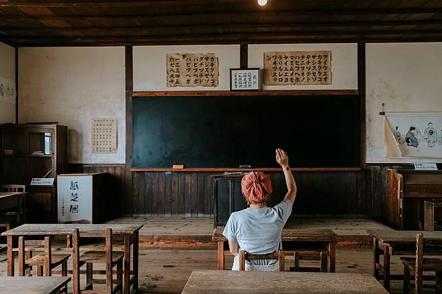 課室是電影村內的一個重點場所,完好保留昭和初期的教室設備。