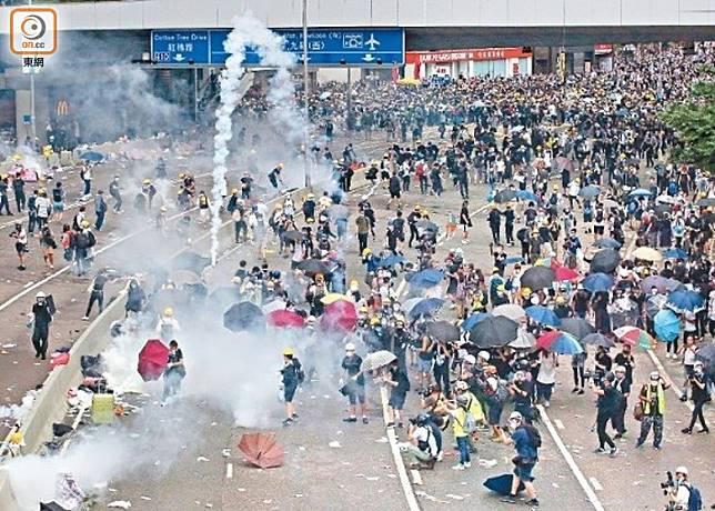 逃犯條例風波開始至今發生多宗示威衝突。