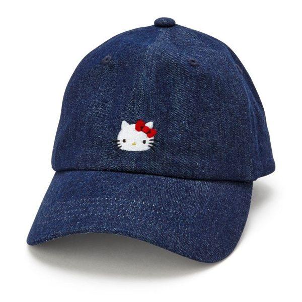 日本KITTY牛仔刺繡防曬遮陽帽311196通販屋