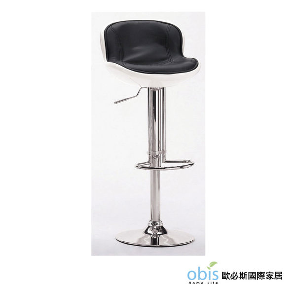 OB003-瓦特吧椅(白黑)(19CM/1048-6)【DD House】