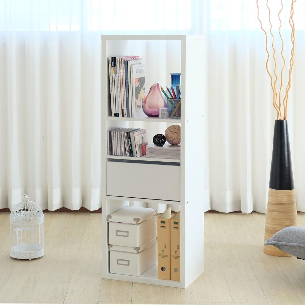 【2123】布拉格三格展示收納櫃 收納 收納櫃 展示櫃 置物櫃 北歐簡約白 多功能 日本熱銷 MIT 台灣製
