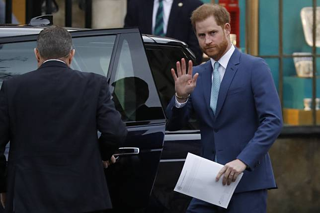 Britain's Prince Harry, Duke of Sussex leaves after attending the annual Commonwealth Service at Westminster Abbey in London on March 09, 2020. Britain's Queen Elizabeth II has been the Head of the Commonwealth throughout her reign.