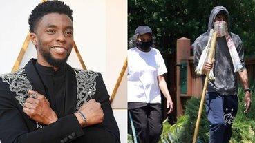 不戴口罩?「黑豹」查德維克博斯曼圍巾蒙面出門購物,網友爆笑吐槽:瓦干達破產了!