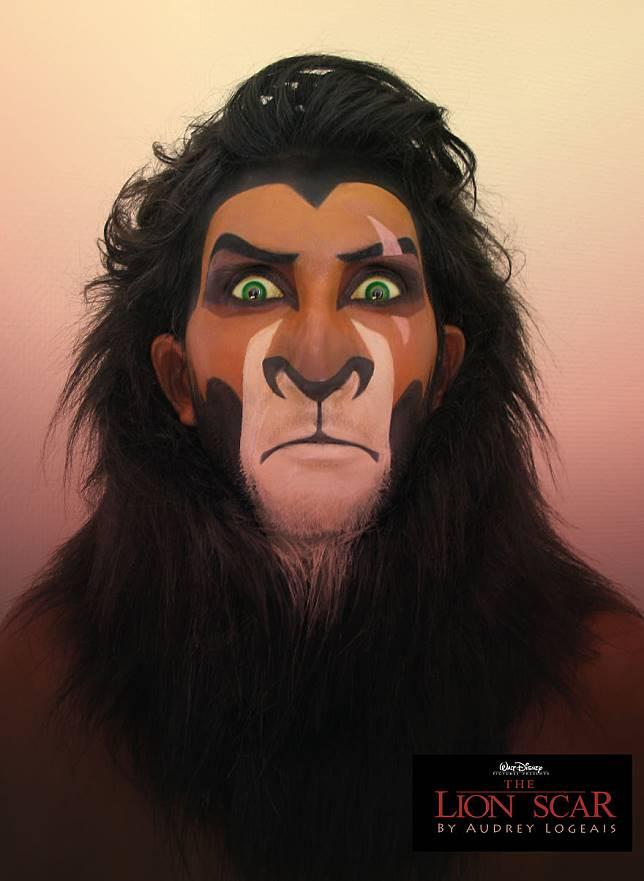 Keren: Wanita Ini Buat Wajah Antagonis Pria di Film Disney