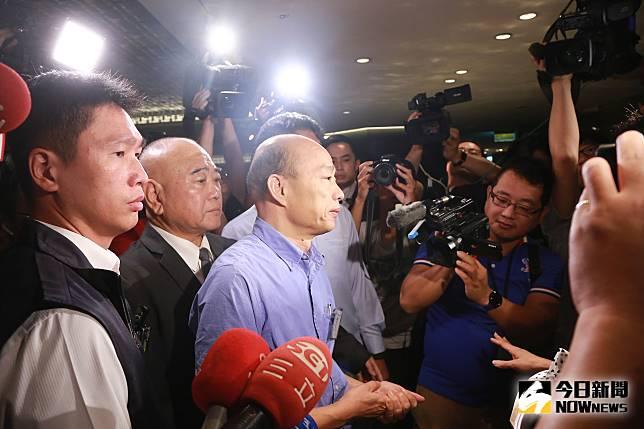 ▲高雄市長韓國瑜出席台北市美國商會演講。(圖/記者葉