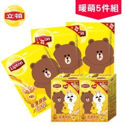 限量版 立頓xLINE FRIENDS 奶茶超值5件組(杯緣公仔盒裝x2盒+袋裝x3袋)