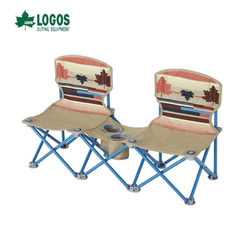 日本LOGOS 印地安雙人野營椅 情人椅 摺疊椅 休閒椅 對對椅 雙人椅 No.73170018