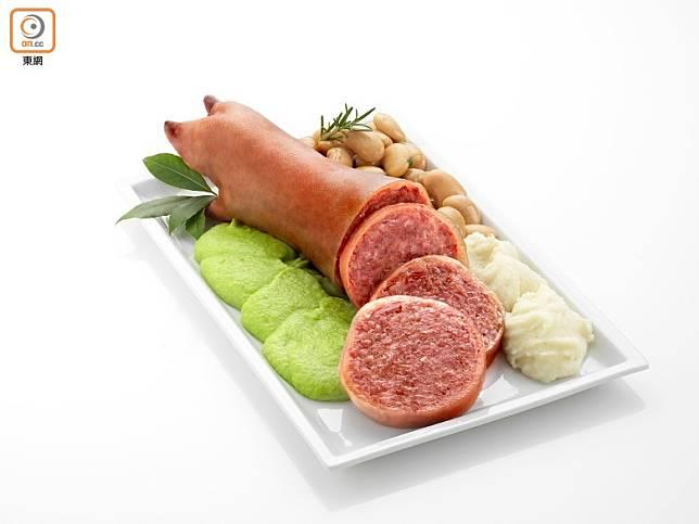 摩德納哥齊諾香腸(Zampone e Cotechino Modena PGI)同樣受到法定地理區域產品保護,至今依然沿用500年前的秘方製作,帶來與別不同的傳統風味。(資料圖片)