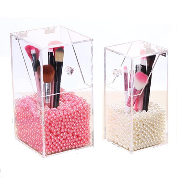 【刷具收納盒】刷具桶(大/小) 桌上收納櫃 刷具收納 化妝品收納 刷具筒 化妝盒 桌上收納 收納箱 化妝刷盒子