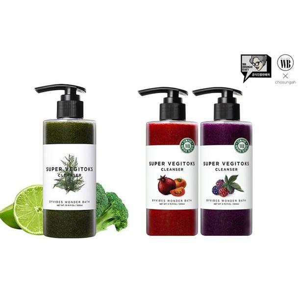 Wonder Bath 蔬菜綠茶洗卸洗面乳 蔬果深層潔膚二合一潔面卸妝乳 300ml