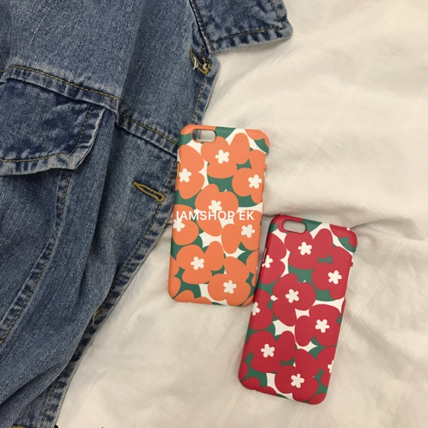 IAMSHOP EK 自制ins網紅同款韓風花朵手機殼iPhone6splus7plus5se