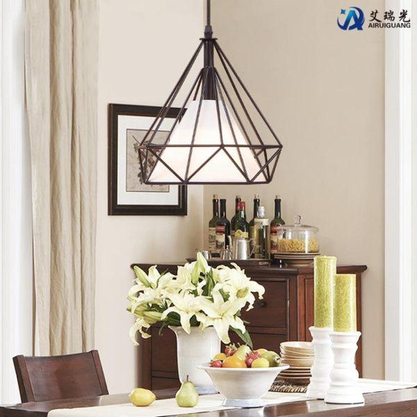 美式鄉村餐吊燈 復古簡約創意吧臺燈具個性咖啡廳時尚家居書房燈