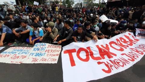 Foto: Lautan Mahasiswa di Aksi Gejayan Memanggil, Yogyakarta