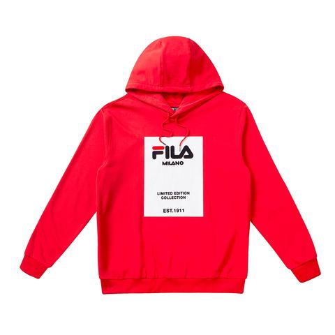 FILA #米蘭ICONIC系列 長袖T恤-紅色 1TET-1811-RD