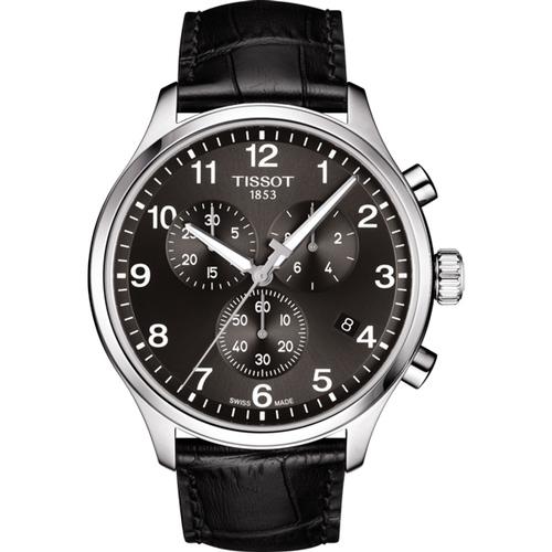 原廠公司貨,瑞士精製 三眼計時功能,日期視窗 藍寶石水晶鏡面,高質感皮革錶帶 型號:T1166171605700