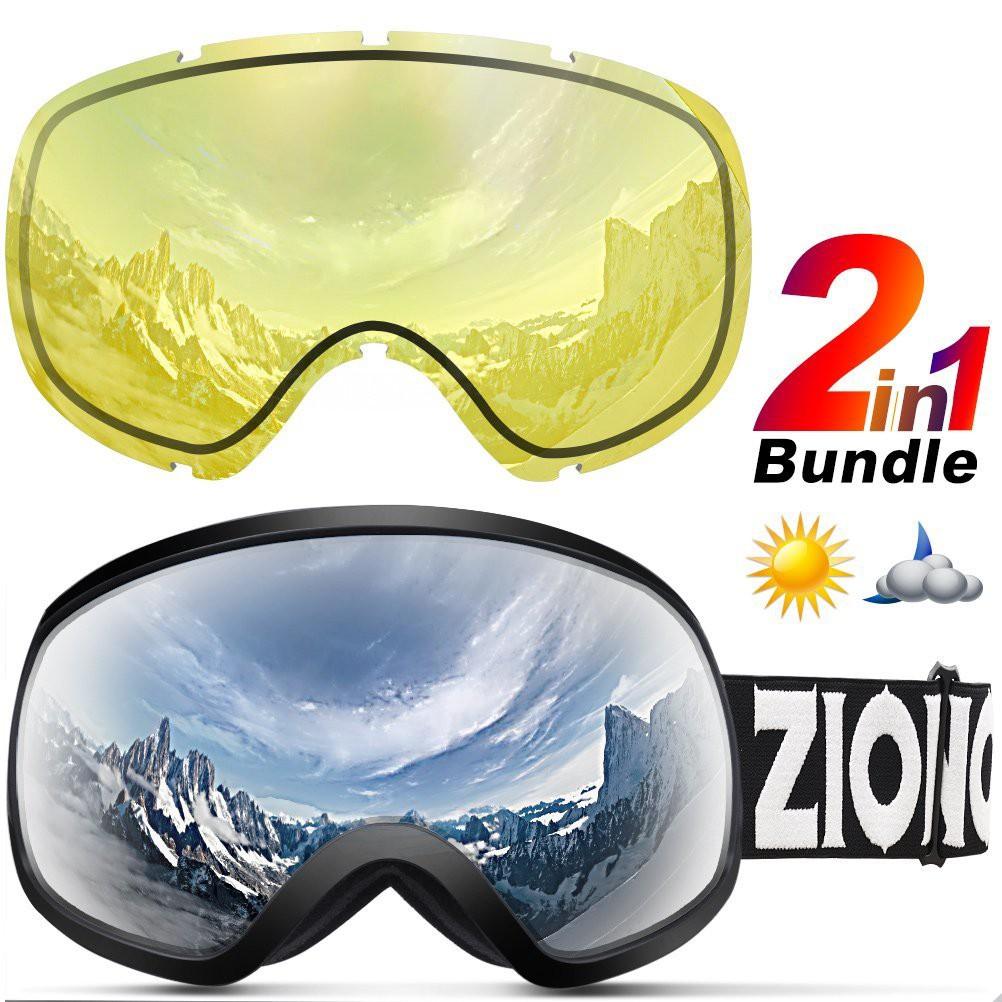 ZIONOR X10 護目鏡 Ski Snowboard Snow Goggles OTG for Men Women