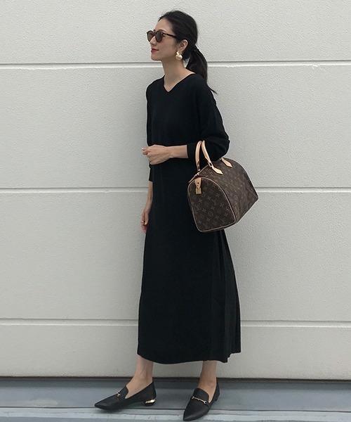 LANDWARDS 針織連身百褶裙:單穿