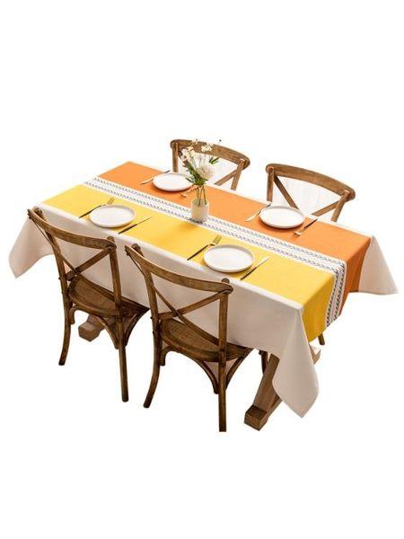 桌布防水防油免洗棉麻小清新網紅書桌ins學生餐桌布長方形家用
