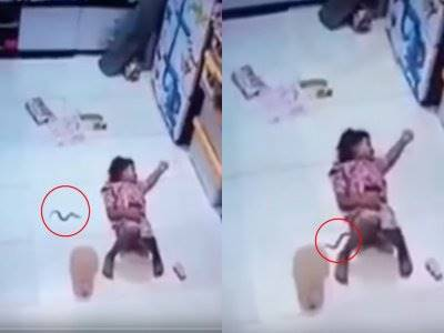 Ngeri! Anak Kecil Ini Nggak Sadar Celananya Dimasuki Ular saat Tidur