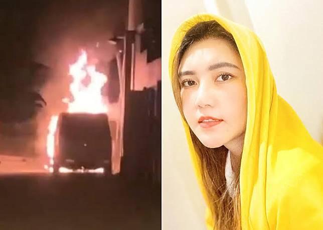 MOBIL Toyota Alphard milik Via Vallen yang dibakar orang tak dikenal, kini pelaku sudah diamankan polisi.*