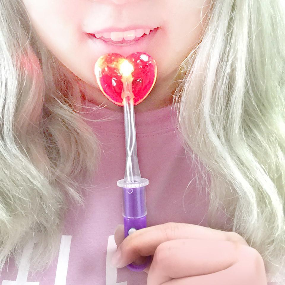 【MS】 韓國LED七彩棒棒糖 - 橘子 & 草莓