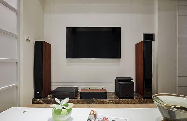 6. 簡潔的電視牆面