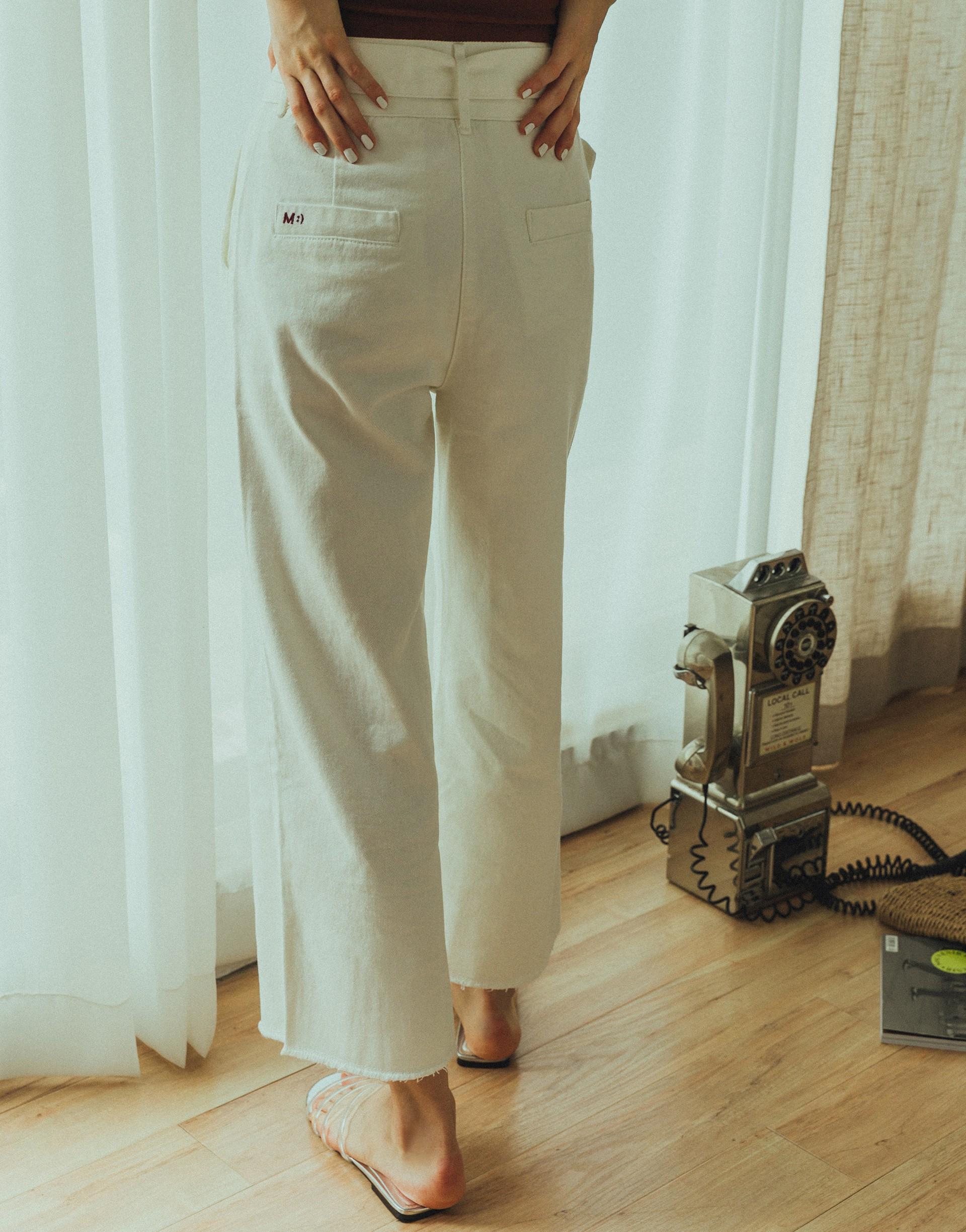 PAZZO+#PS901 M :)美式休閒牛仔寬褲(黃小米聯名款)
